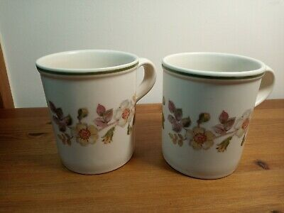 2 M & S Autumn Leaves Mugs Very Good Marks & Spencers • 12.99£