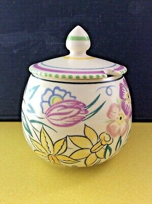 Poole Pottery 1940s Jam Pot & Cover VG Cond Stamped Base Initials Match On Lid • 11.99£