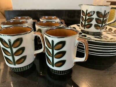 Vintage Boch Belgium 1841-1966 Set Of 6 Cups & Saucers, Milk Jug And Plates • 10£