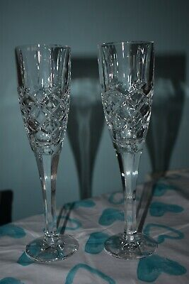 New No Box. Thomas Webb Pair Of Champagne Flutes. Excellent Condition. • 14.99£
