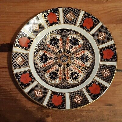 A Royal Crown Derby 22cm Plate In The Imari 1228 Pattern - 2nd - 1989 • 25£