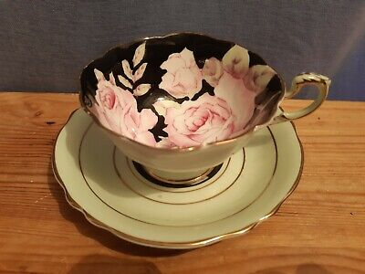 A Vintage Paragon Floral Cup And Saucer By Appointment Queen Mary - 1st - 1930's • 125£
