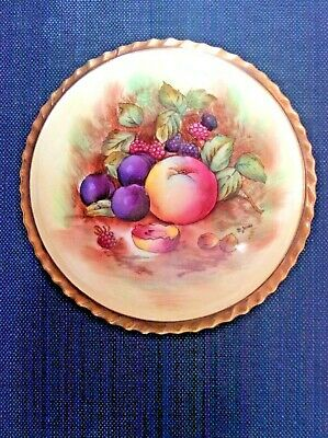 Aynsley Pot And Cover Fruit Image On Lid Signed D Jones C1950s No Chips/cracks • 14.99£