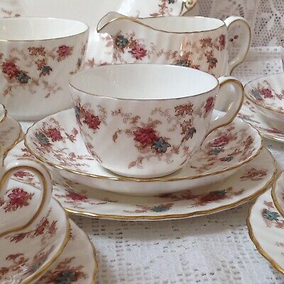Antique Minton  21 Piece Tea Set, Ancestral Pattern, Hand Painted • 98£