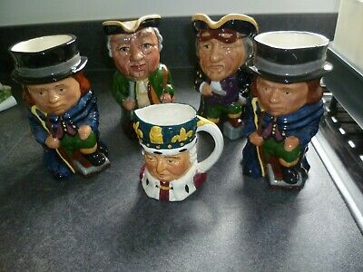 Group Of Small Character Jugs Jugs • 0.99£