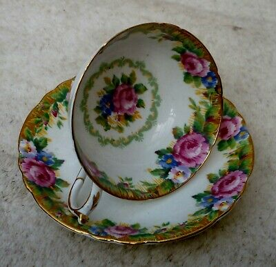 A  Very Nice Paragon  Tapestry Rose  Bone China Cup & Saucer. • 5.50£