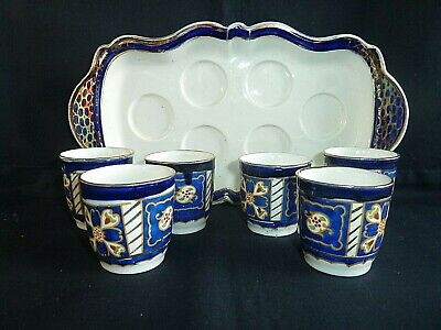 Antique Vintage Royal Winton Ivory Ware 6 Egg Cups & Tray 1920s • 24.99£