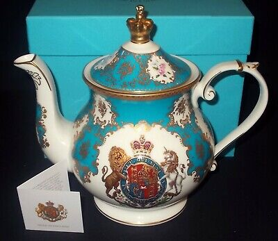 Royal Collection KING GEORGE IV And KING WILLIAM IV Coat Of Arms Teapot • 29£