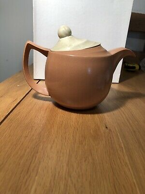 Branksome China Art Deco Hot Water  Pot  Two Tone Brown & Mushroom • 7.70£
