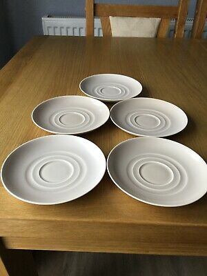 Vintage Branksome 5 X China Cake / Sandwich Plate In Beige 5.5 Inches Across GC • 3£