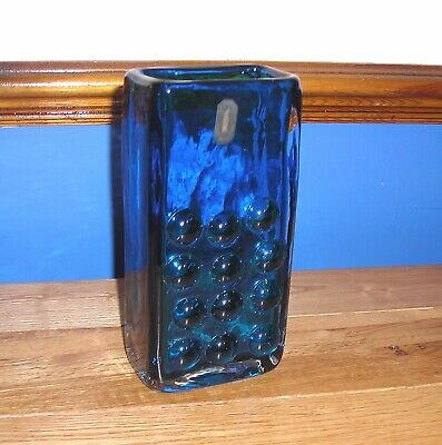 Rare WHITEFRIARS Kingfisher Blue Mobile Phone Vase With Label. • 124£