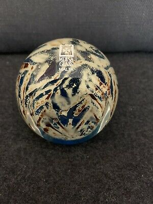 Vintage Mdina Sand And Sea Glass Paperweight Signed And Original Label • 5£