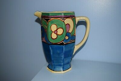 A Very Rare Clarice Cliff Athens Shape Jug  Sliced Fruit  Green Colourway 1930   • 75£