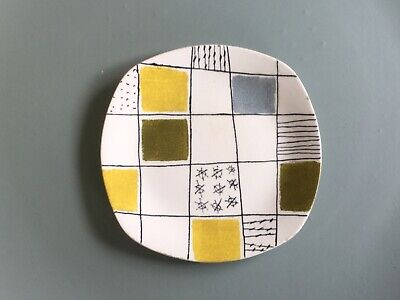 Vintage Midwinter Modern Terence Conran Chequers Plate Fabulous Design Icon  • 8£