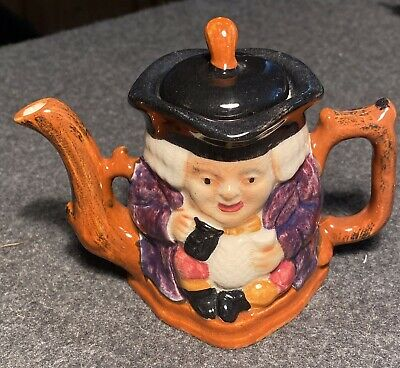 Vintage Hand Painted Miniature Staffordshire Toby Jug Teapot, Shorter & Son • 6.99£