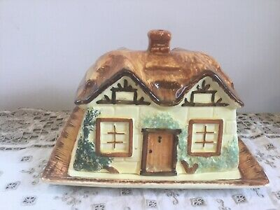 Ye Olde Cottage Butter Dish Made In England • 12£