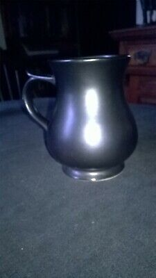 VINTAGE `PRINKNASH` ROUNDED TANKARD. APPROX. 5 Ins. TALL. BLACK LUSTRE FINISH • 7£