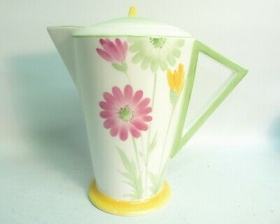 1930's Art Deco Shelley China Dasies  Vogue  Coffee Pot, Pat.11950, Rd.756533 • 21.05£