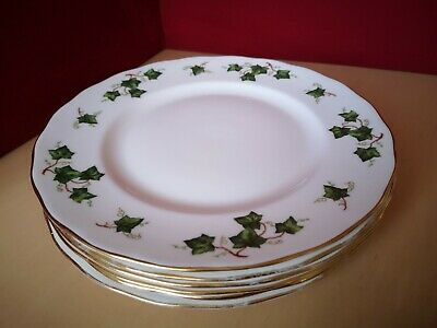 Set Of 6 Colclough Ivy Leaf Dinner Plates • 21£