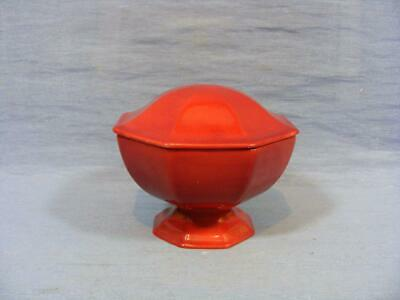 Rare ROYAL DOULTON FLAMBE OCTAGONAL LIDDED FOOTED TRINKET POT / SUGAR BOWL 1920 • 19.95£