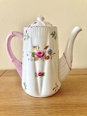 Shelley Rose And Red Daisy Coffee Pot And Lid 13425 • 35£