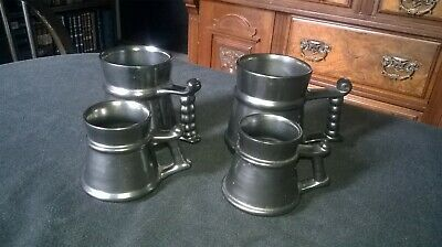 4 X VINTAGE PRINKNASH POTTERY TANKARDS LUSTRE GLAZE.PLEASE SEE DESCRIPTION(E)    • 10£