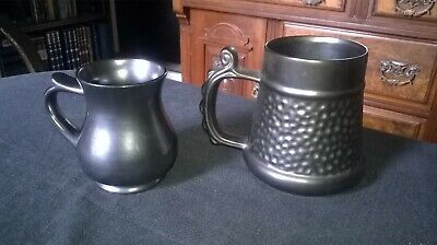 2 X VINTAGE PRINKNASH POTTERY  TANKARDS. LUSTRE GLAZE. PLEASE SEE DESCRIPTION(D) • 10£
