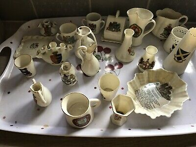 Job Lot Of 23 Pieces Of Goss Crested China (1) • 6£