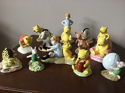 Royal Doulton Winnie The Pooh Figures 1-14 70th Anniversary- New • 135£