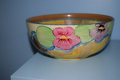 A Rare Clarice Cliff 7 1/2  Bowl  Pansies  Pattern 1932 Mint Condition  • 150£