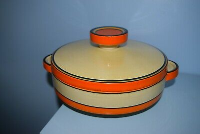 A Rare Clarice Cliff Large Odilon Shape Tureen 5802 Lawleys Banded Pattern 1930  • 40£