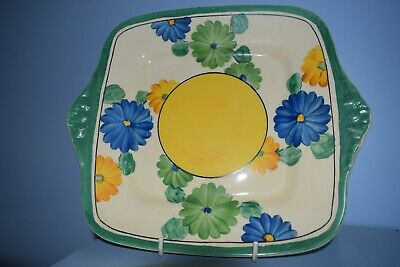A Rare Clarice Cliff Large 10  Cake Plate  Sungay  Pattern 1932  • 75£