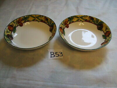ROYAL DOULTON  EVERYDAY AUGUSTINE CEREAL DESSERT BOWLS X 2 In Excellent Cond. • 14.99£
