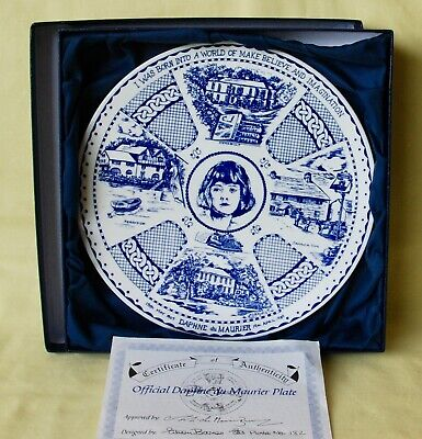 Official DAPHNE DU MAURIER China Plate BLUE & WHITE - Certificate/ Presentation  • 32.99£