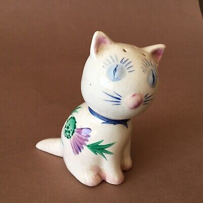 Plichta Wemyss Pottery Thistle Cat Vintage Pepper Pot • 20£