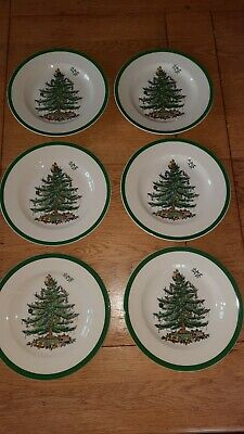 Spode Christmas Tree Side Plate 20cm X 6 Excellent Condition  • 24.99£