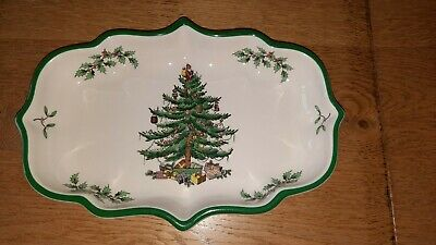 Spode Christmas Tree Dish Sweets Serving  23 X 15cm Excellent Condition  • 7.50£