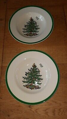 Spode Soup Cereal  Bowls X 2 Christmas Tree 23cm  • 16.99£