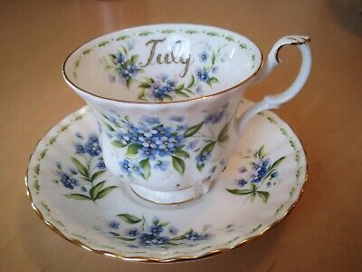 Royal Albert Flower Of The Month - Cup & Saucer - July - Forget-Me-Not • 9£