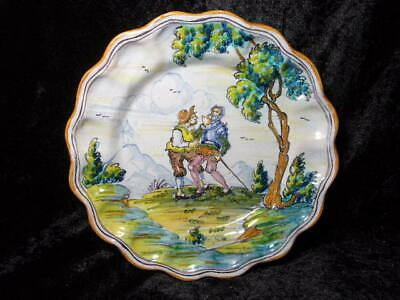 Antique Or Vintage Spanish Talavera Painted Wall Plate, Don Quixote. • 29£