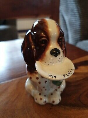 Beswick Vintage Dog With  My Plate  Model 1054 • 10£