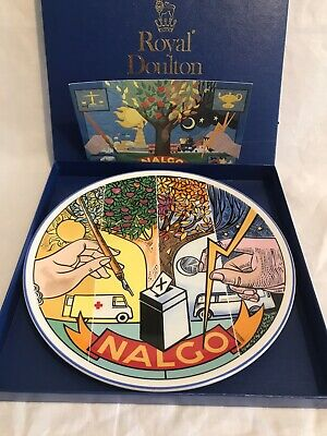 Nalgo Presentation Plate Royal Doulton Trade Union • 5£