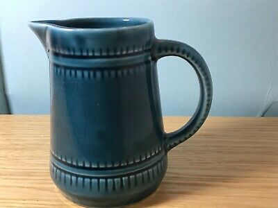 Prinknash Abbey Pottery Jug Aqua Blue • 1.10£
