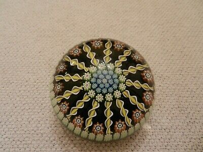Vintage Perthshire Glass Paperweight  Millefiori & Radial Twists - Excellent. • 59£