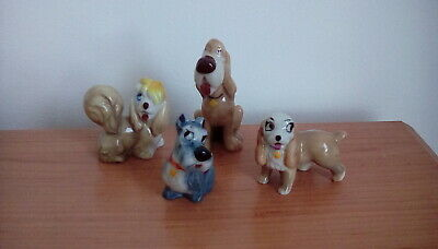 Vintage Wade Disney Lady And The Tramp Dog Figurines • 4.59£