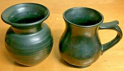 Prinknash Pottery Jug And Vase • 7.50£