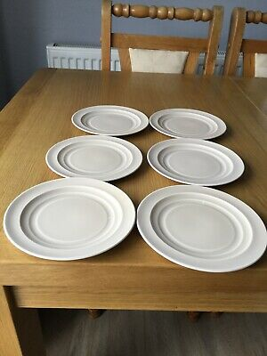 "6 X Vintage Branksome China Beige 1950s Side Plate ""S"" 6 ½"" Across See Photos • 4£"