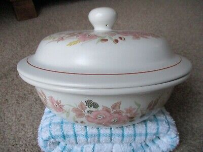 BOOTS HEDGE ROSE POTTERY LIDDED SOUP TUREEN Or Use As CASSEROLE DISH • 6.99£
