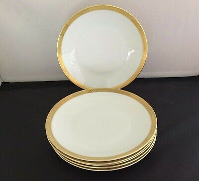 ROSENTHAL -GOLD RIMMED PLATES WITH UNUSUAL LETTERING AROUND RIMS  6 X 19cm • 10.99£