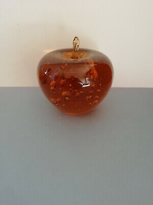 Stunning Vintage Retro Apple Glass Paperweight Worth A Look • 4.99£